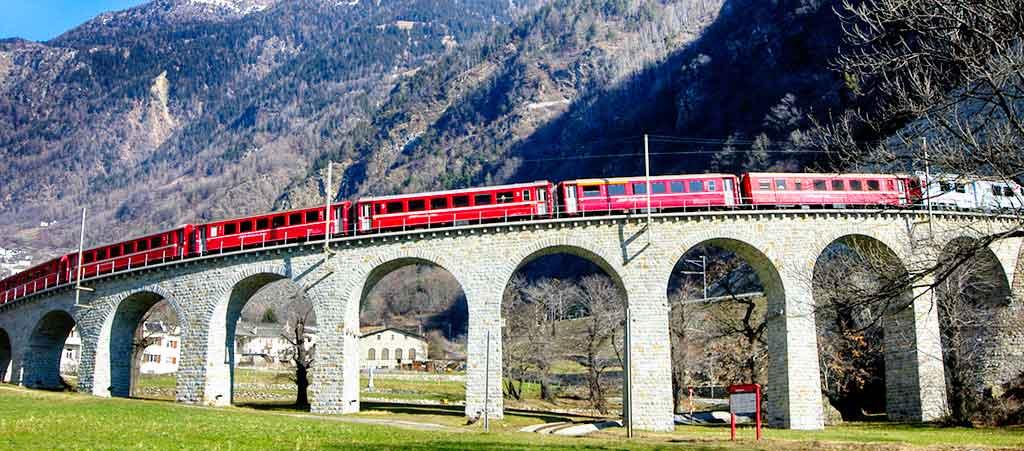 Tirano-Saint Moritz- Percorso Trenino