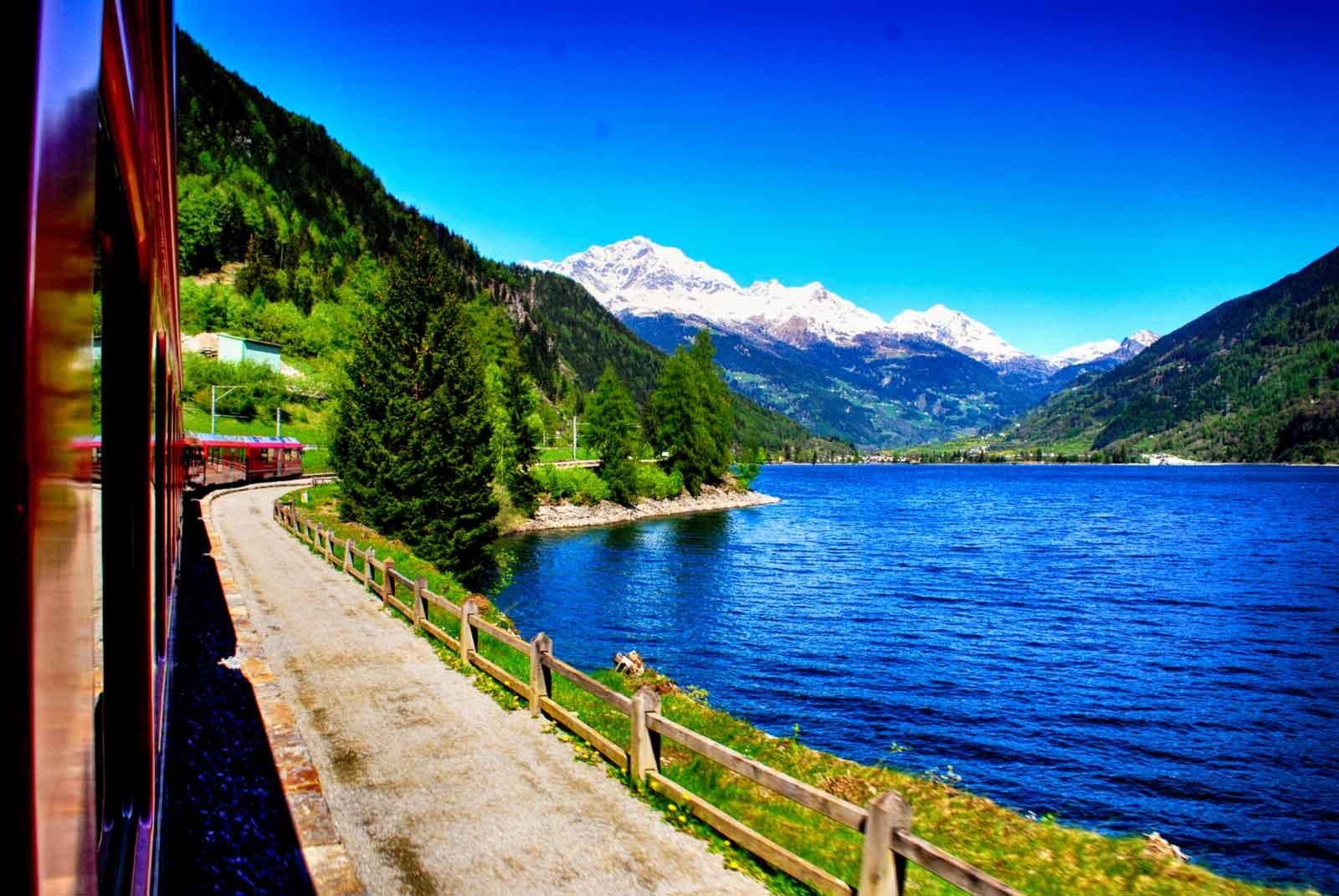 Trenino Rosso del Bernina- Lago di Miralago