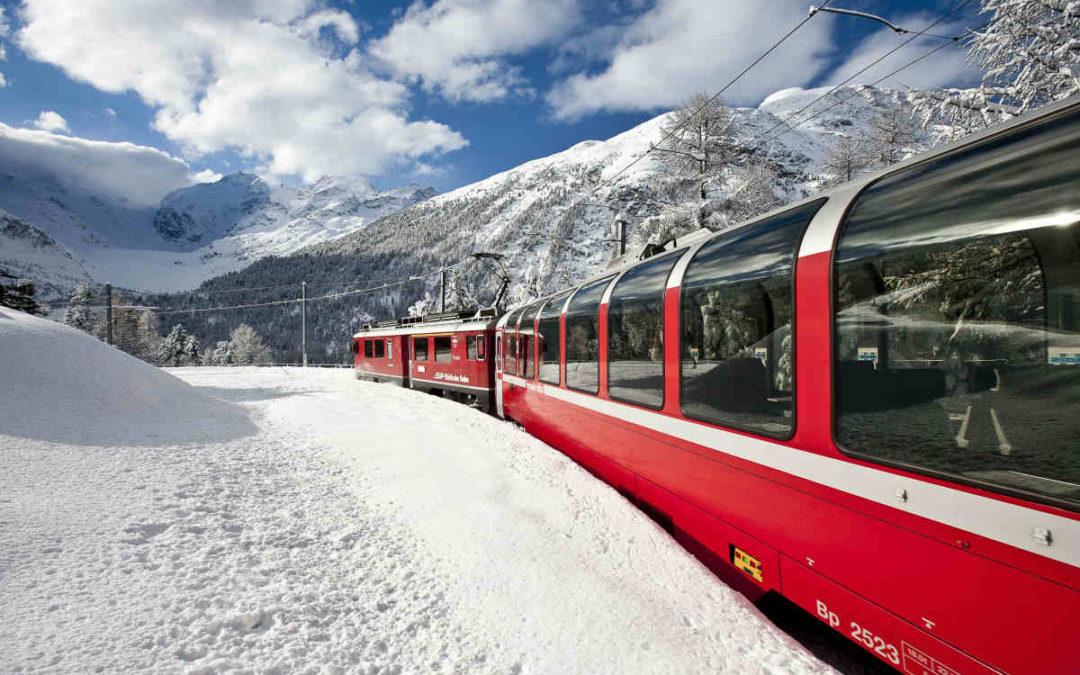 I paesaggi da favola del Trenino Rosso del Bernina